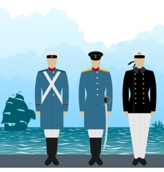Uniforms sailors tsarist russia-1 vector