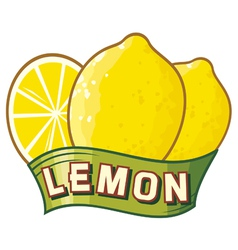 Lemon label vector