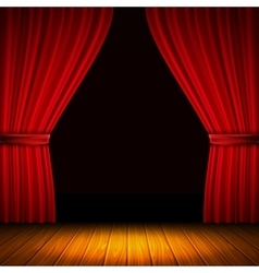 Red curtain composition vector