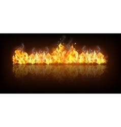 Realistic fire flame banner vector
