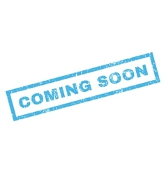 Coming soon rubber stamp vector