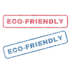 Eco-friendly textile stamps vector
