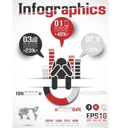 Infographics modern business icon man style 4 vector