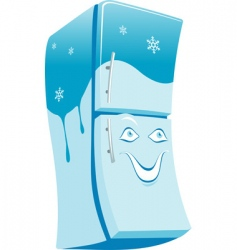 Cheerful refrigerator vector