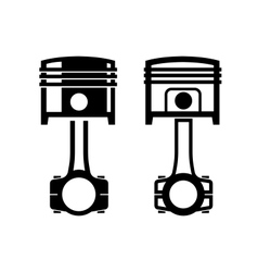 Car piston icon vector