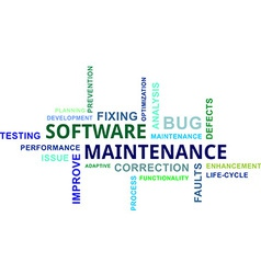 Word cloud software maintenance vector