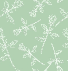 Seamless floral pattern backgrounds vector image