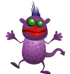 Purple monster vector