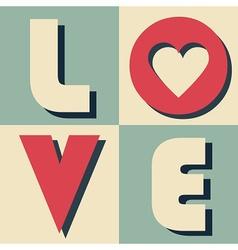 Valentines day design element vector image