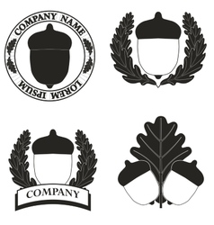 Logos with the image of an acorn vector