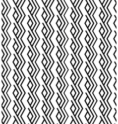 Monochrome zigzag abstract textured geometric vector