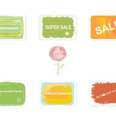 Labels on discounts and environmentally friendly vector