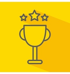 Trophy with stars isolated icon design vector