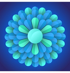 abstract blossom flower vector image vector image