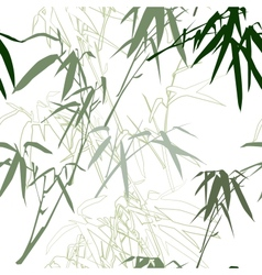 Bamboo floral seamless pattern background vector