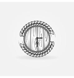 Beer barrel logo vector