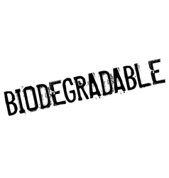 Biodegradable stamp rubber grunge vector