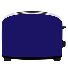 Blue toaster vector image