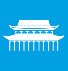 buddha toothe relic temple in singapore icon white vector image vector image