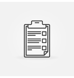 Checklist and clipboard icon vector