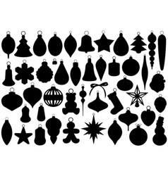 Christmas balls set vector