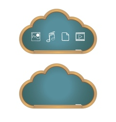 Cloud Computing on Blackboard vector image