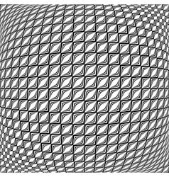 Design monochrome warped grid diamond pattern vector