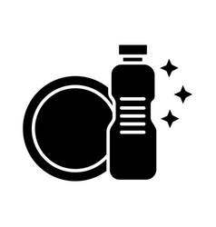 dish washing - dishwashing detergent icon vector image