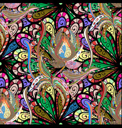 Elegant bright and seamless flower pattern design vector