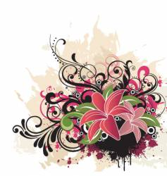 floral graphic design vector image