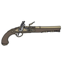 Historical handgun vector