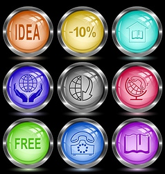 idea -10 library protection world globe and array vector image