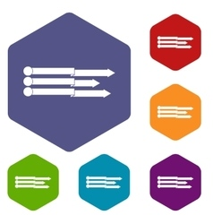 Infographic arrows icons set vector image vector image