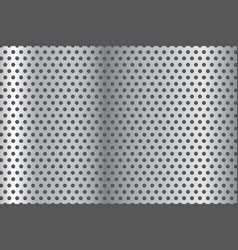 Metal background perforated steel texture vector