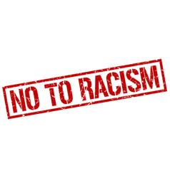 No to racism stamp vector