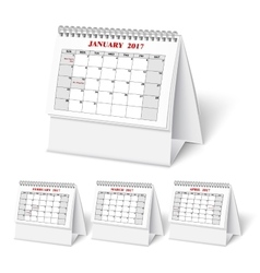 Realistic wall calendar with spring vector