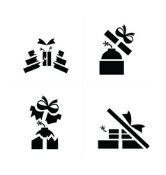 Set black blast in gift icons is damage vector