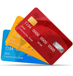 set of premium credit cards vector image vector image