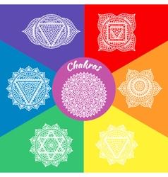 Set of seven chakras vector