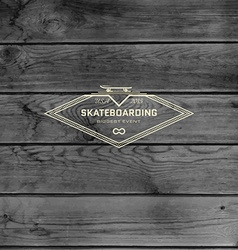 Skateboard badges logos and labels for any use vector image vector image