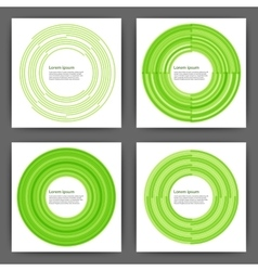 Stock design template square cards vector