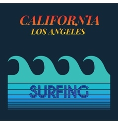 surf typography t-shirt graphics vector image