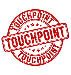 Touchpoint red grunge stamp vector