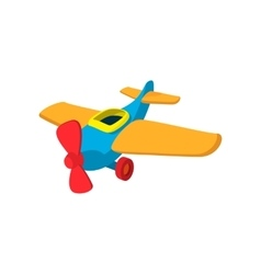 Toy plane cartoon icon vector
