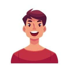 Young man face wow facial expression vector
