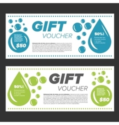 Laundry service gift vouchers vector