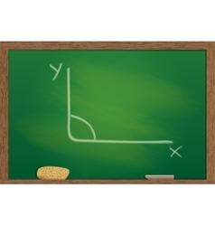 blackboard in wooden frame vector image