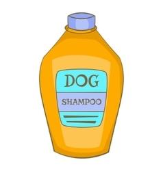 Dog shampoo icon cartoon style vector