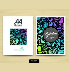 Cover annual report abstract garden design vector