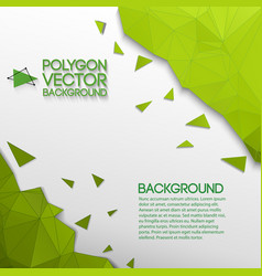 Abstract geometric green and white background vector